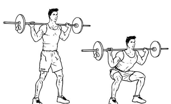 High Bar Squats With A Barbell