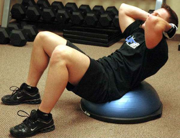 Crunches Done On A Bosu Ball