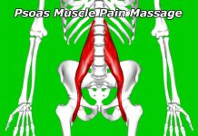 red and tender area requiring a psoas muscle pain massage