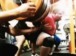 Elite powerlifter Vlad Alkhazov squats 1,175 pounds (532.5 kg) to set the new squat world record
