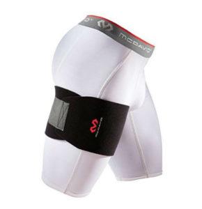sports hernia wrap designed to go around the upper thigh
