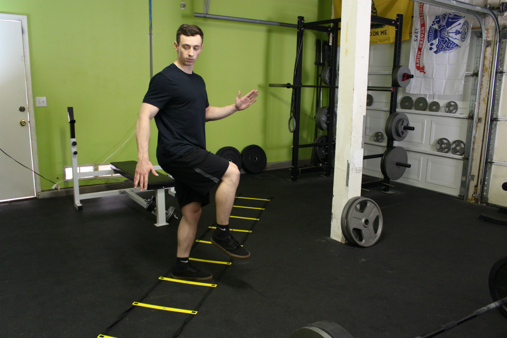 Lateral Agility Ladder Exercise