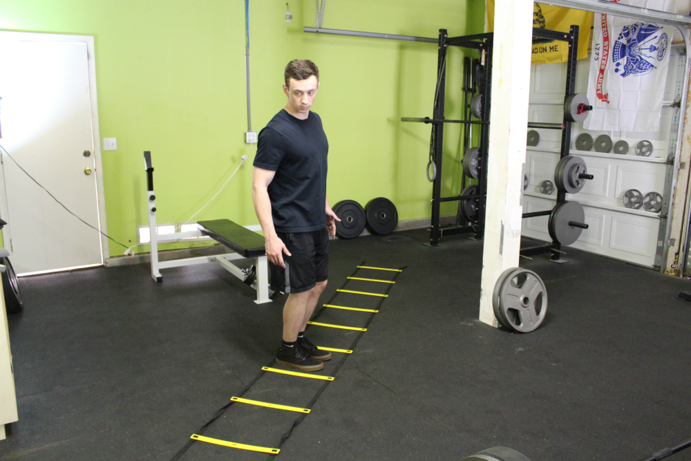 Lateral Hop Agility Ladder Drill