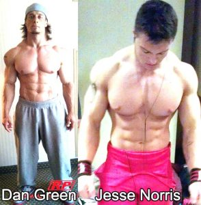 Powerlifters Dan Green and Jesse Norris cut weight to compete at a lighter powerlifting weight class