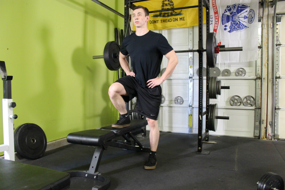 No Dumbell Lateral Step Up