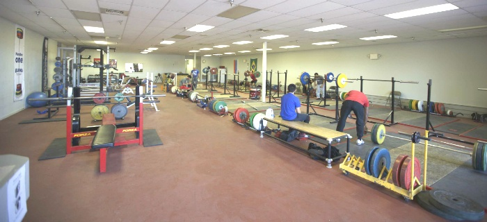Squat area at Physiqz Powerlifting Gym in West Las Vegas