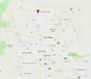 Map showing the location of Filthy Power Gym in Las Vegas