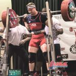 John Hack Wears Powerlifting Wrist Wraps During Squats At An IPF Competition