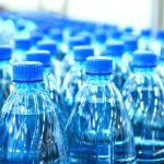 Large amount of bottled water