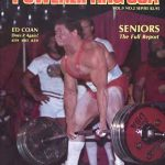 Ed Coan Deadlift Program in action as Coan pulls during a meet for Powerlifting USA magazine