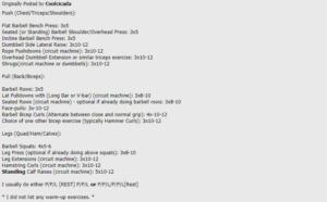 A screenshot of the Coolcicada original post from bodybuilding.com